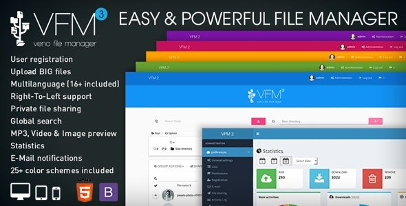 CodeCanyon - Veno File Manager v3.7.2 - host and share files - 6114247