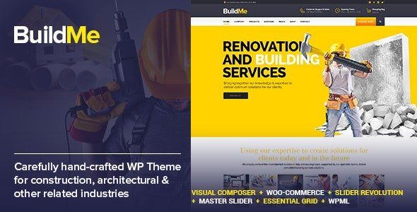 ThemeForest - BuildMe v4.6 - Construction & Architectural WP Theme - 11242771 - NULLED