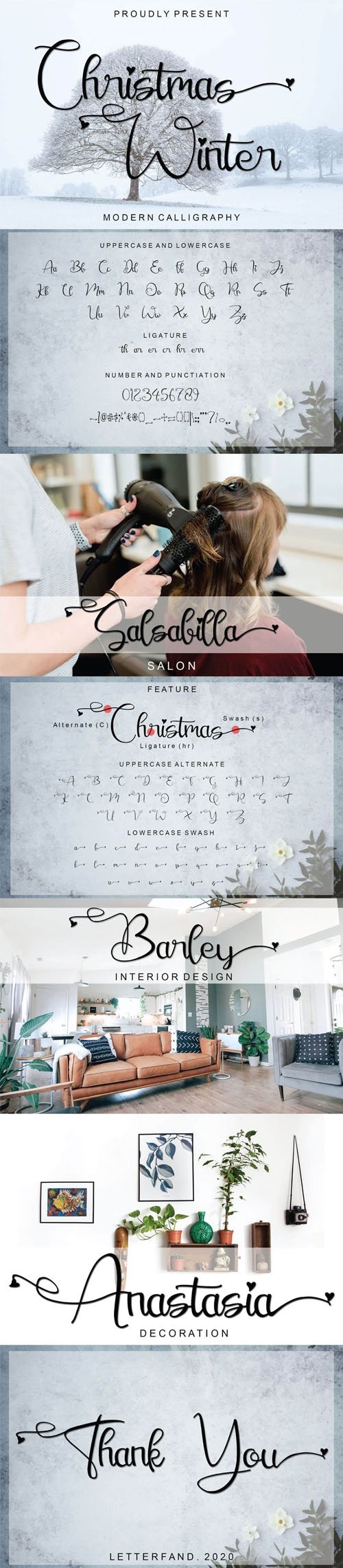 Christmas Winter - Modern Calligraphy Font