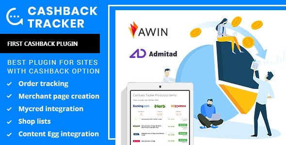 CodeCanyon - Cashback Tracker v1.5.1 - Wordpress Plugin - 24394236