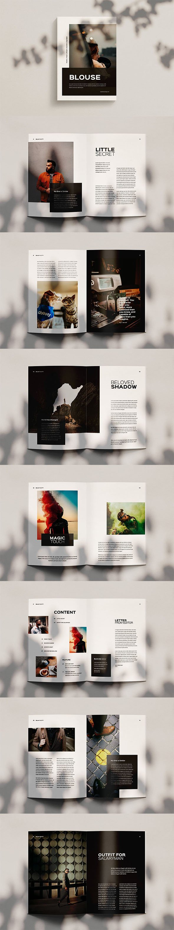 Blouse - Magazine Template Indesign