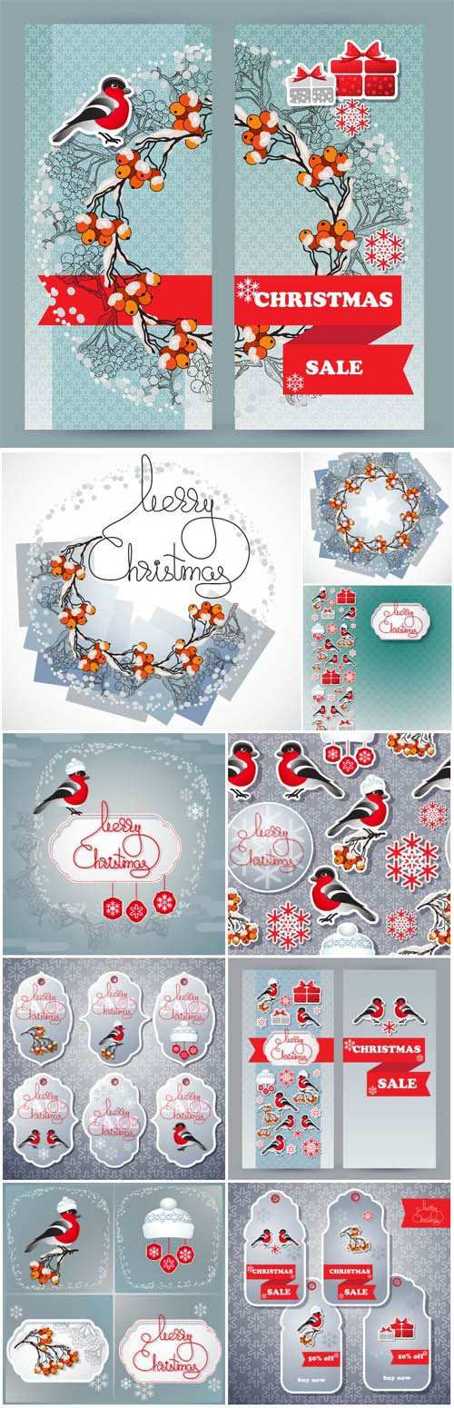 New Year and Christmas illustrations in vector 56