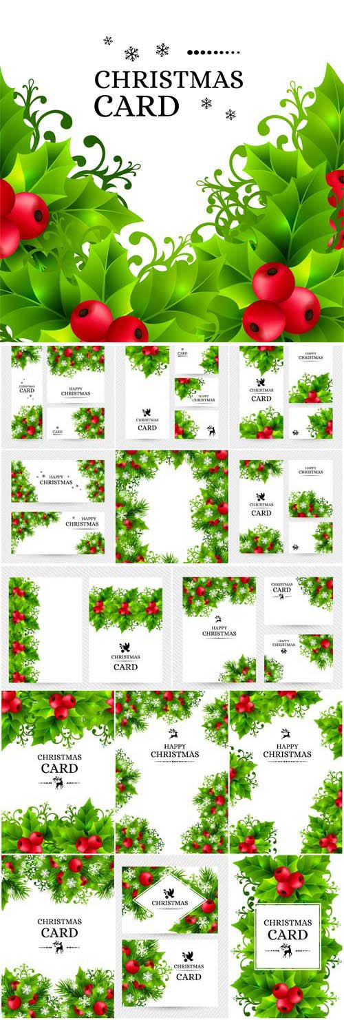 New Year and Christmas illustrations in vector 57