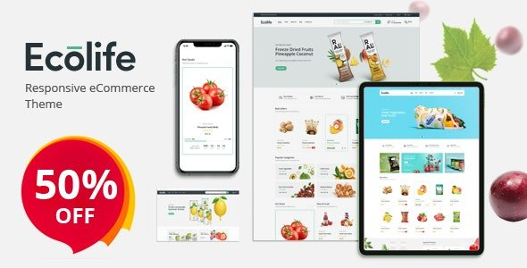 ThemeForest - Ecolife v1.0.1 - Organic, Food, Cosmetic & Multipurpose Opencart Theme - 26486472
