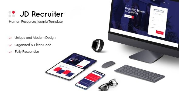 ThemeForest - JD Recruiter v1.1 - HR Consulting & Staffing Agency Joomla Template - 24086109