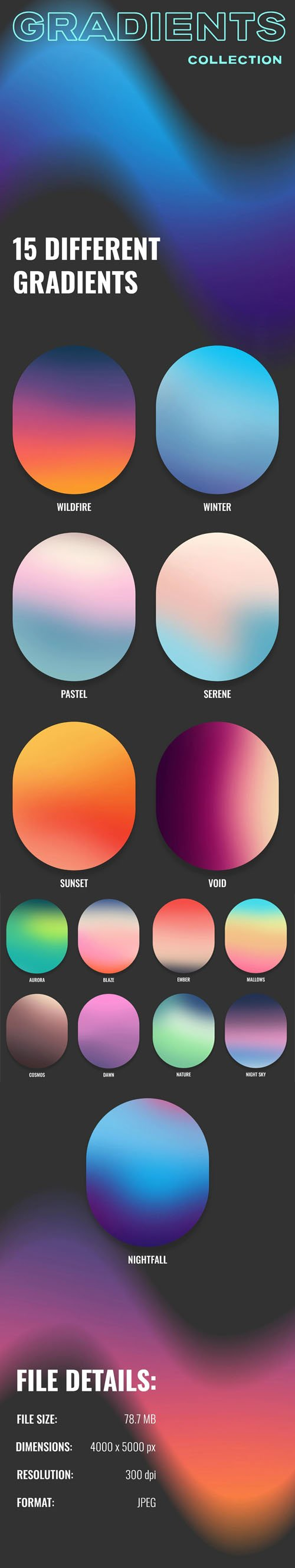 15 Different Gradients Pack