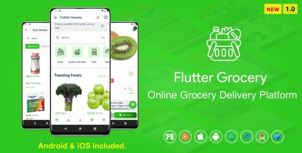 CodeCanyon - Flutter Multi Vendor Grocery ( Convenience Store, Food, Vegetable, Fresh Fruit, eCommerce, Retail ) v1.0 - 29832816