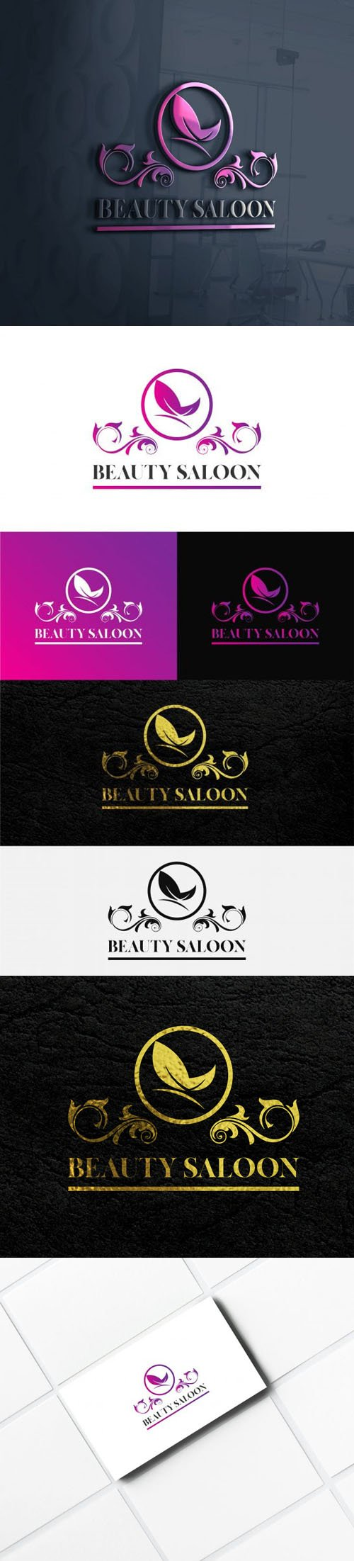 Beauty Saloon Logo Templates for Illustrator