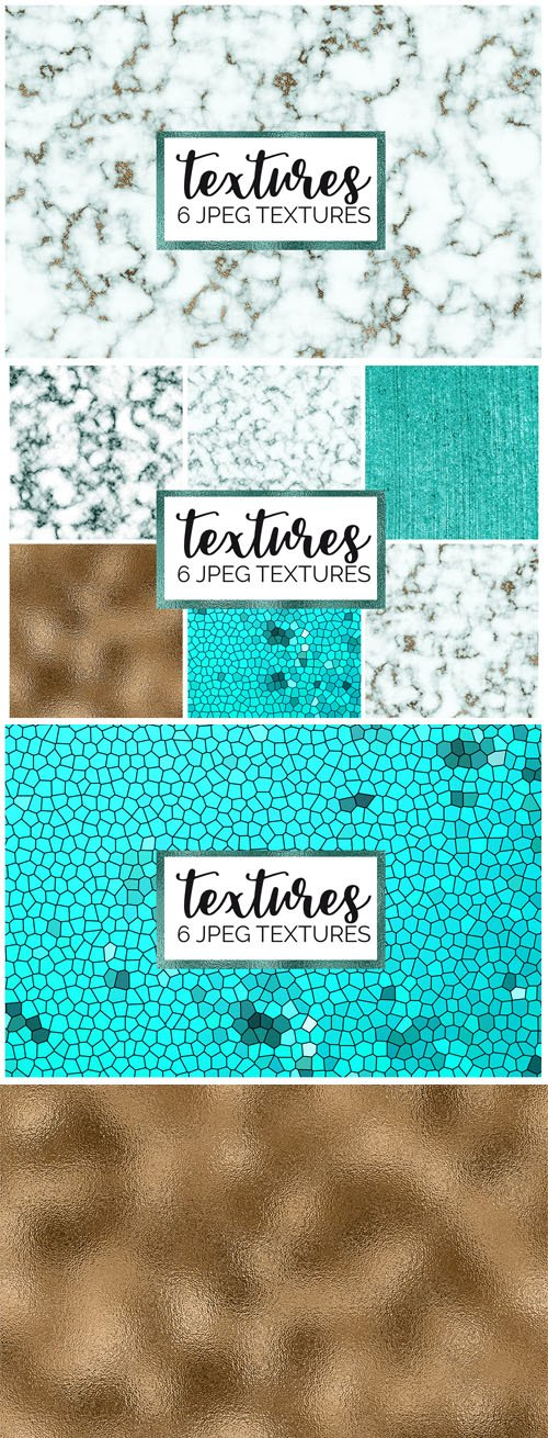 8 Marble & Foil Textures Digital Papers Pack