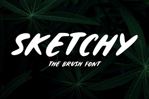 Sketchy - The Brush Font