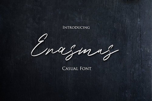 Erasmus - Casual Hand Lettering Font