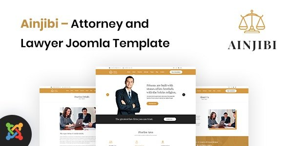 ThemeForest - Ainjibi v1.0.0 - Attorney and Lawyer Joomla Template - 29662775