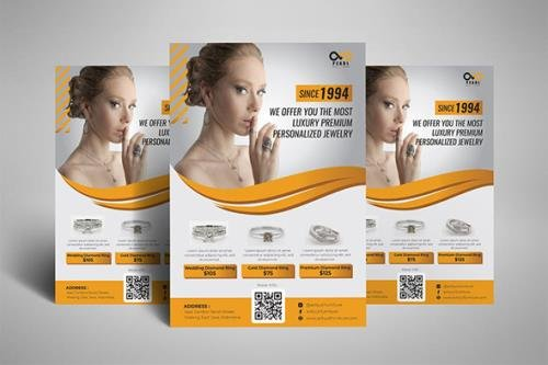 Jewellery Fashion Flyer Poster
