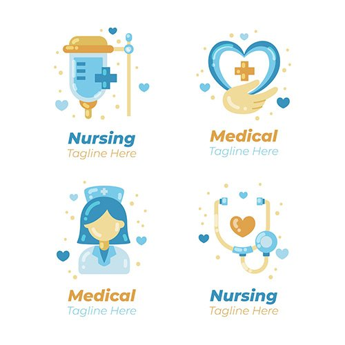 Nurse logo template collection